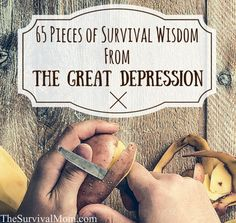Survival wisdom, Great Depression -- Those go hand in hand when studying how millions survived the toughest years in American history. Here are 65 survival lessons. *** To view further for this article, visit the image link. Survival Food, Homestead Survival, Wilderness Survival, Outdoor Survival, Survival Knife, Survival Prepping, Emergency Preparedness, Survival Skills, Survival Supplies