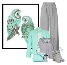 """""""Grey and Aqua Inspired"""" by kimzarad1 ❤ liked on Polyvore featuring Topshop, Damsel in a Dress, Kristin Cavallari, Acne Studios, Fendi and Kate Spade"""