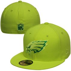 41101773d01 New Era Philadelphia Eagles 59FIFTY Tonal Pop Basic Fitted Hat - Neon Green