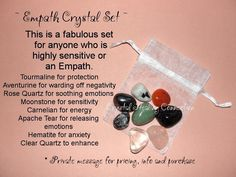 ~ Empath Crystal Set ~ This set is fabulous if you are highly sensitive or an…