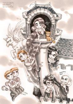 Harry Potter Funny Cartoons | funny cartoons photo: Harry Potter: Tangled harry_potter__tangled_by ...