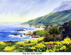 Big Sur Vista 22x30