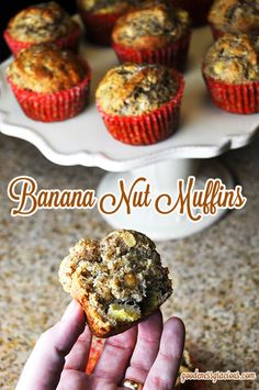 Banana Nut Muffin Recipe - These are so good! Made them 4 times this month!!