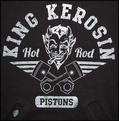 King Kerosin Hoodie - Hot Rod Piston - King Kerosin - Crazy Box
