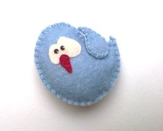 Little bird ornament  felt ornaments by grabacoffee on Etsy