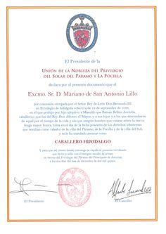 Caballero Hijodalgo del Solar del Páramo de la Focella (Asturias).