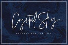 Chameo design loves this font for branding, logo, graphic design I Crystal Sky Font Set by Sam Parrett on @creativemarket
