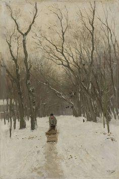 Anton Mauve (Dutch, 1838-1888) Winter in de Scheveningse Bosjes (Winter in the Scheveningen Forest), 1870-1888. Oil on canvas.