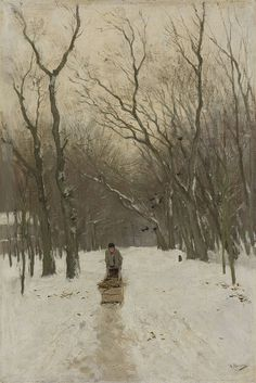 Anton Mauve (Dutch, 1838-1888) , Winter in de Scheveningse Bosjes (Winter in the Scheveningen Forest), 1870-1888. Oil on canvas.