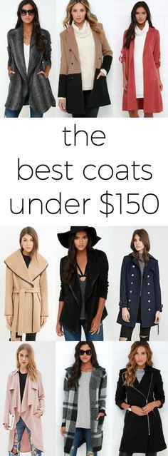 This post has a collection of the BEST coats under $150 with several under $50!