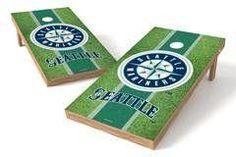 Seattle Mariners Single Cornhole Board - Field