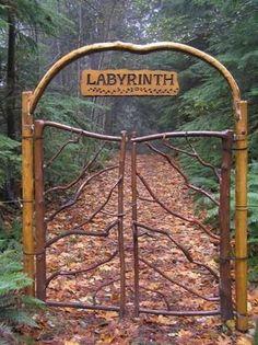 Beautiful Portals Labyrinth Gate, The Magic Forest Garden Gates, Garden Art, Garden Design, Garden Entrance, Magic Forest, Dark Forest, Decoration Inspiration, Maze, Paths