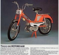 Motobecane Mopeds were everywhere in the late Moto Scooter, Moto Bike, Vintage Motorcycles, Cars And Motorcycles, Peugeot 103, Nostalgia, 50cc, Honda Cb, My Childhood Memories