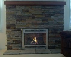 Stone Fireplace Projects modern-indoor-fireplaces