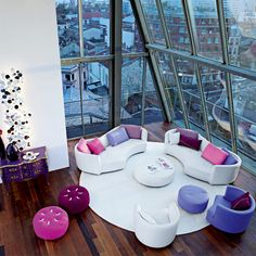 living room purple