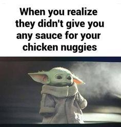 I might be addicted to baby yoda memes. Cute Memes, Really Funny Memes, Stupid Funny Memes, Funny Relatable Memes, Hilarious, Funny Stuff, Star Wars Meme, Star Trek, Yoda Meme