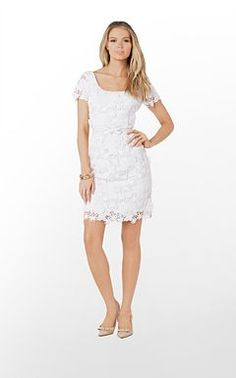 356d02978298a White Dress Collection - Lilly Pulitzer Lace Sheath Dress