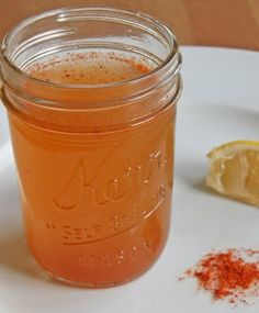 For Sinus, colds... Ingredients: 1/4 cup water, 1/4 cup unfiltered apple cider vinegar, 1 tablespoon honey, 1 teaspoon cayenne pepper, 1 wedge lemon Directions: Bring water to a boil. Combine hot water and apple cider vinegar in a small glass or mug. Add honey and cayenne pepper. Stir well. Top off with a squeeze of lemon. Take a deep breath of the mixture, and start drinking.