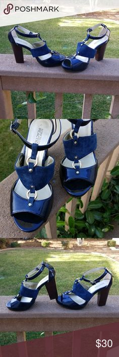 🆕  Kenneth Cole Reaction Blue Heels Beautiful Kenneth Cole Reaction Blue heels. Very comfortable to wear. In excellent condition and only worn once. Heel is 4 inches high.   No box is included with these heels.   Comes from a smoke-free home. Kenneth Cole Reaction Shoes