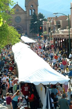 Santa Fe Plaza - annual Indian Market - only the best of the best are invited to show their work