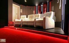 THE RED CARPET CINEMA, KRAKÓW  Great bespoke home cinema in Kraków!   #hdcinema #cracow #cinema #homecinema #home #theatres #audio #visual #design #architecture