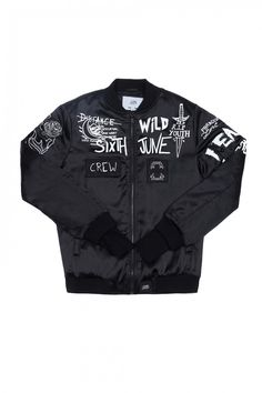 Bomber Crew Sixth June black Black Denim Jacket Men, Brown Leather Jacket Men, Black Bomber Jacket, Leather Men, Modern Punk Fashion, Sweater Hoodie, Fitness Fashion, Motorcycle Jacket, Adidas Jacket
