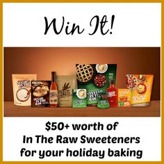 Enter to win $50+ worth of In The Raw Sweeteners to use in your holiday baking.  The #giveaway is open to US residents only and ends December 5, 2014.