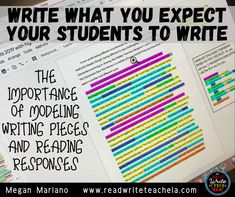 Write What You Expect Students to Write: Importance of Modeling Writing Pieces and Reading Responses