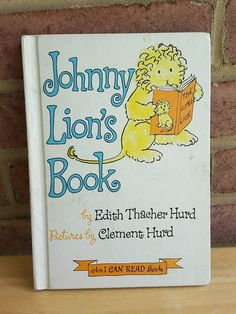 Johnny Lion's Book Edith Thacher Hurd VTG 1965 HB I Can Read Childrens Book