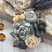 Магазин мастера ALLA REVA: броши, колье, бусы, серьги, браслеты, топиарии