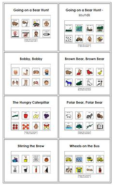 Visual Supports: Story/Circle Time.  Boardmaker downloads. Repinned by www.preschoolspeechie.com