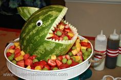 Shark Head fruit salad for my under the sea party
