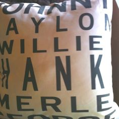 Country Music Legends pillow