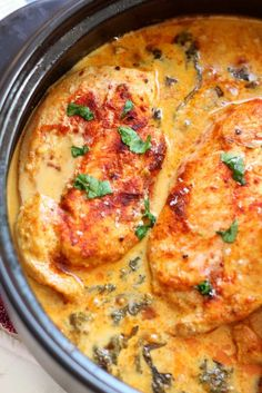 Lemon Butter Chicken with garlic and Parmesan. Gluten-free
