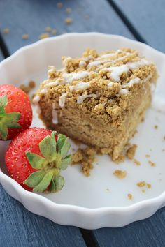 Dense and moist vegan and gluten free coffee cake with the perfect crumble topping. This is a brunch must have!