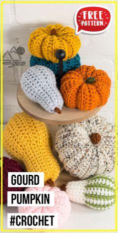 Crochet Fall, Holiday Crochet, Free Crochet, Crochet Pumpkin Pattern, Crochet Patterns Amigurumi, Knitting Projects, Crochet Projects, Amigurumi Toys, Yarn Crafts