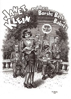 R. Crumb's visualization of vintage music songbird Janet Klein...