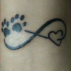 Tattoo in memory of my dog