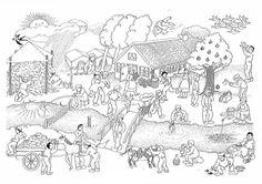 Spreekwoorden kleurplaat boerderij
