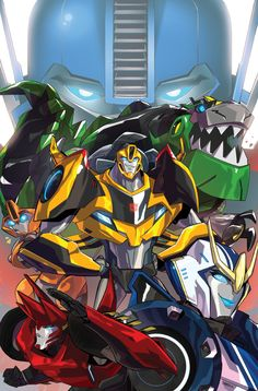 I guess Ravage is out of the bag! This is the cover I did for the Transformers: Robots in Disguise #0 (the new TF cartoon), which will be a Free Comic Book Day issue. AND GUESS WHAT?? I'll be doing the interior art as well! Seriously, this is insane! I'm so happy (⌯͒•̩̩̩́ ˑ̫ •̩̩̩̀⌯͒)