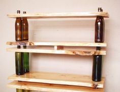 Now this is a different take on shelving. I would never have thought this one up.