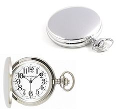 #pocketwatchesformen Dueber Watch Co Swiss Steel Hunting Case Pocket Watch with Railroad Style Dial Check https://www.carrywatches.com