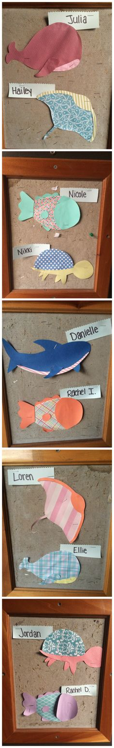 RA, CA, res life, door decs, name tags, sea animals