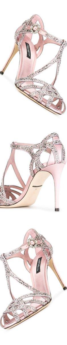 DOLCE & GABBANA Embellished Satin Sandal