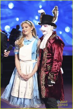 Willow Shields channels Alice in Wonderland during her routine with pro partner Mark Ballas on Dancing With the Stars on Monday night
