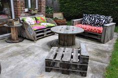 Le Salon de jardin de la seconde vie #DIY #idée #Déco