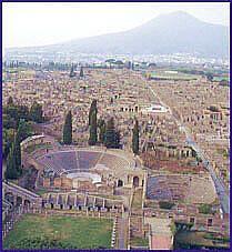Pompeii and mount Vesuvio, life caught unaware