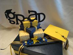 Graduation/Party Card Box with Year and by lisaspaperparrodise, $43.00