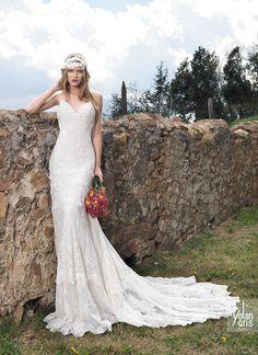 vestido de noiva classico com cauda yolancris boho chic 2015