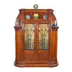 A Rare French Art Nouveau Vitrine by Louis Majorelle